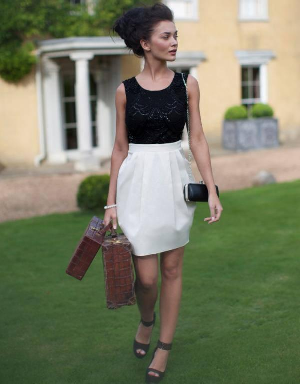 Amy Jackson  Cool Pic With Embellished Top Shift Dress