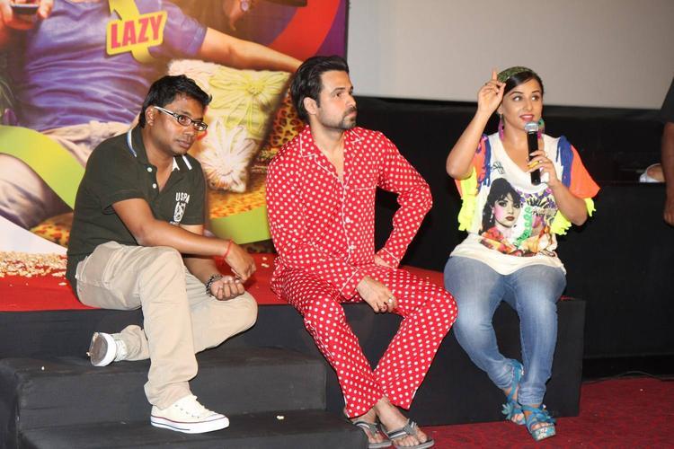 Raj Kumar,Emraan And Vidya Graced At The Music Launch Of Ghanchakkar Song Lazy Lad
