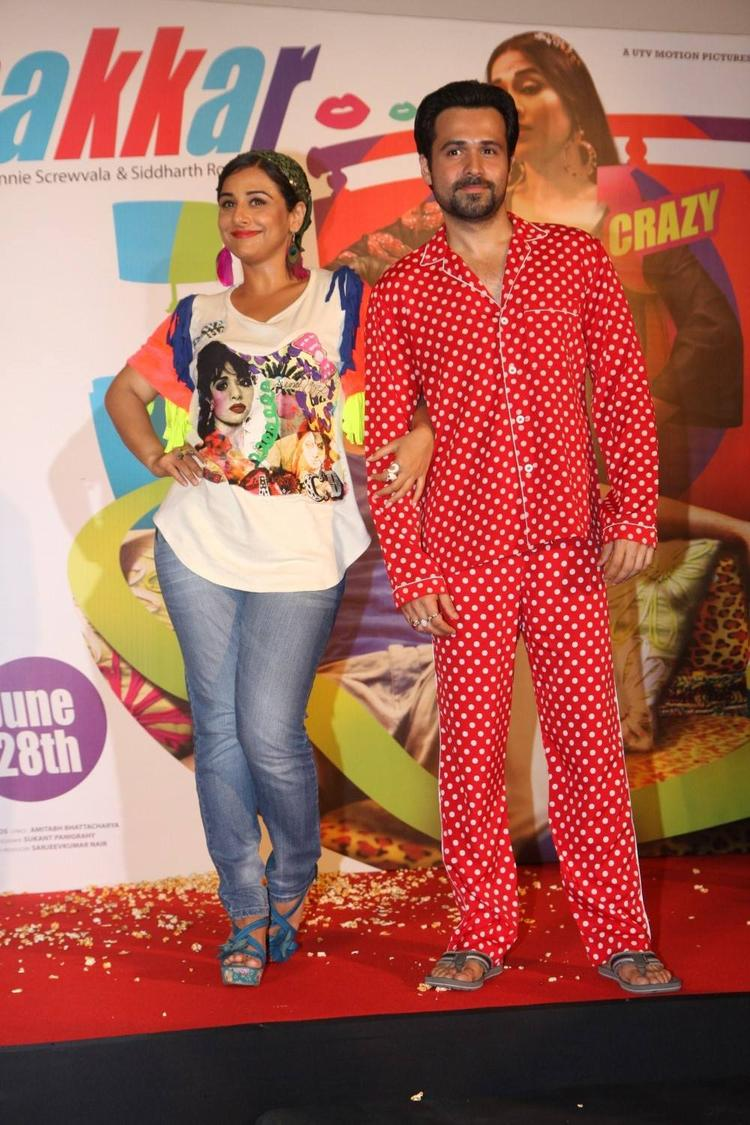 Vidya And Emraan Unveiled The Music At The Music Launch Of Ghanchakkar Song Lazy Lad