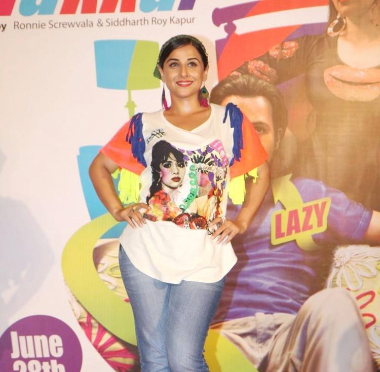 Vidya Balan Hot Stylish Look At The Music Launch Of Ghanchakkar Song Lazy Lad