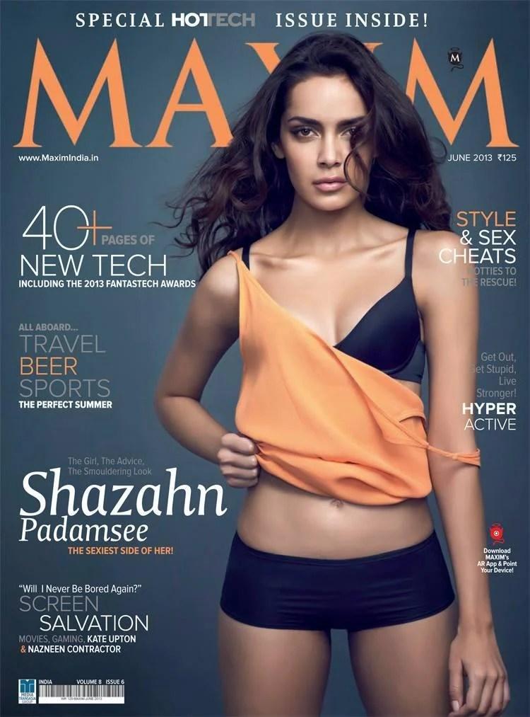 Shazahn Padamsee Sexy Look Graced On Maxim India Magazine June 2013