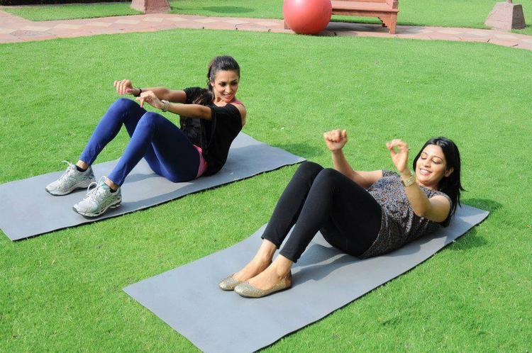 Malaika Arora Khan Yoga Still In City Delhi