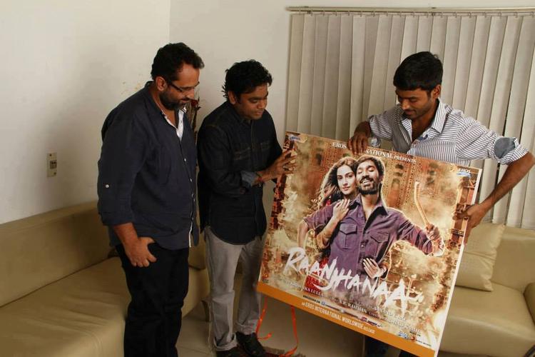A.R.Rahman,Dhanush And Aanand Launches Raanjhanaa Movie Album