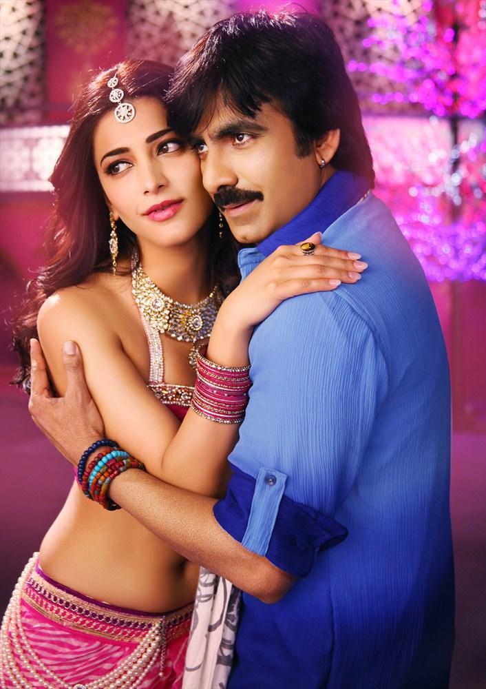 Ravi Teja And Shruti Haasan Photo From Balupu Movie