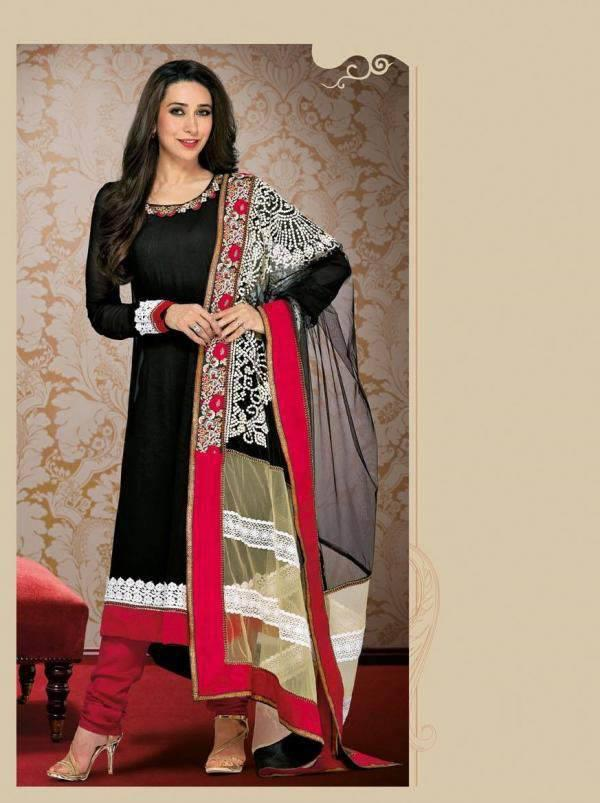 Gorgeous Karisma Kapoor Strikes A Pose For Photo Shoot In Salwar Suit