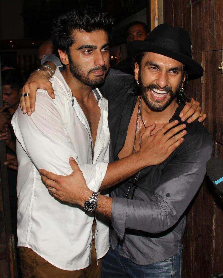 Ranveer Singh And Arjun Kapoor Fun Still At Arjun Kapoor's Birthday Bash