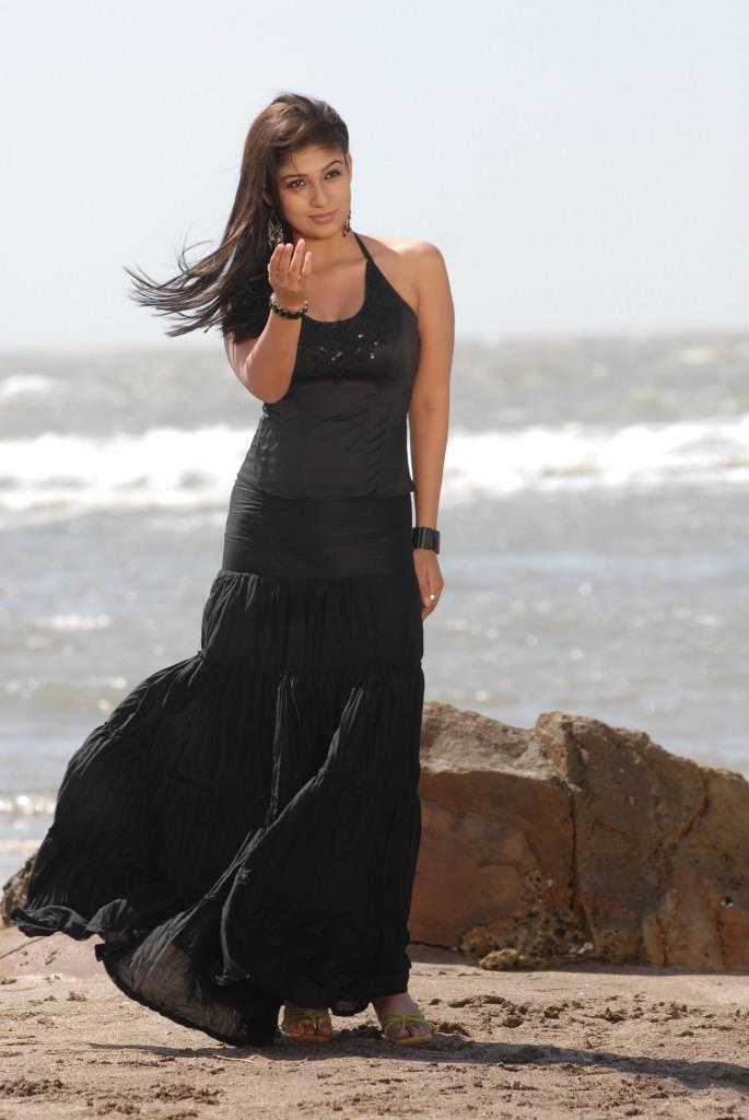 Nayanthara In Black Dress Glamour Hot Look Still