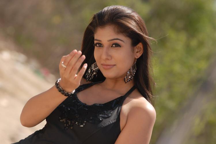 Nayanthara In Black Dress Nice Look Photo Still
