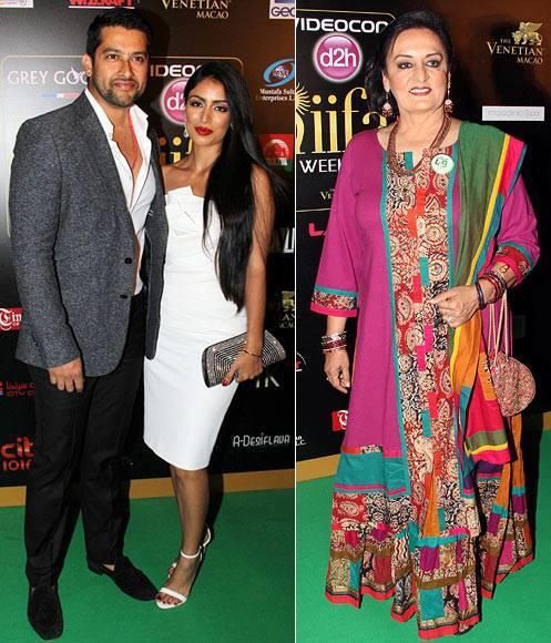 Aftab Shivdasani with Nin Dusanj During The14th IIFA Awards 2013