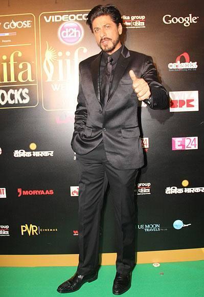 Shahrukh Khan Snapped  At 14th IIFA 2013 Rocks Event