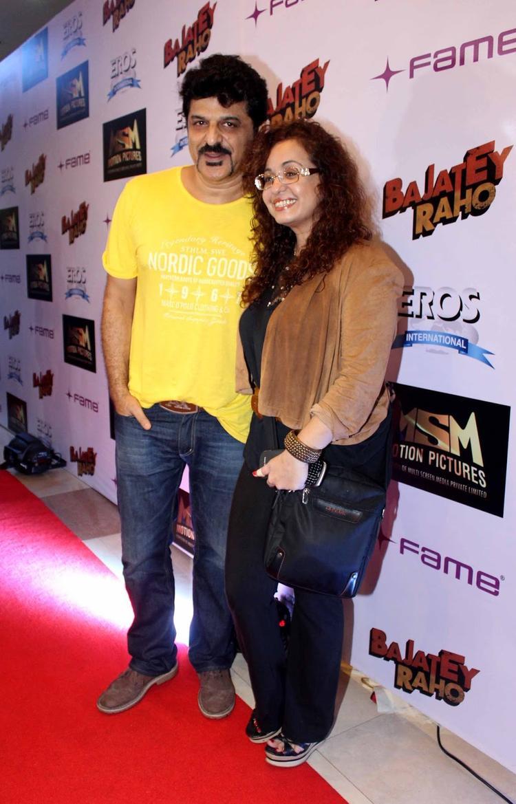 Rajesh Khattar With His Wife Vandana Sajnani Attend The Premiere Of Bajatey Raho Movie