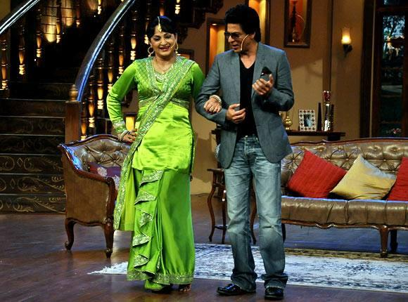 Upasana And SRK Rocked On The Sets Of Comedy Nights With Kapil During The Promotion Of Chennai Express