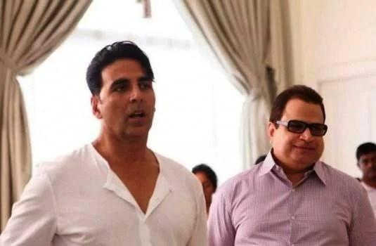 Akshay Kumar On Location Pic At Its Entertainment