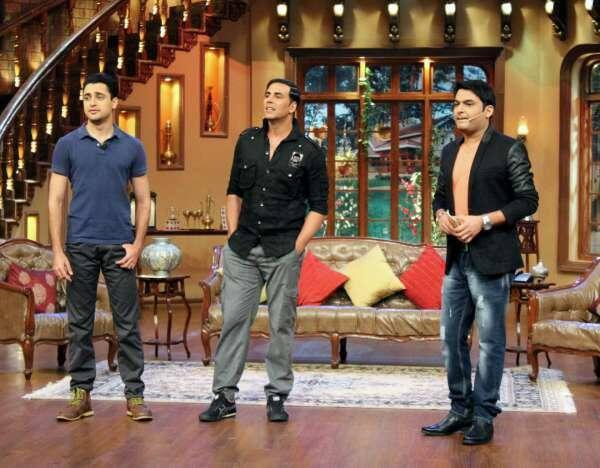 Akshay And Imran Wirh Kapil For Promote OUATIMD At Comedy Nights