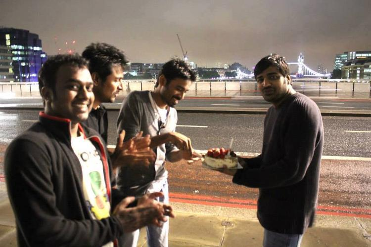 Dhanush Celebrating His Birthday In Style In London With Close Friends From The Industry