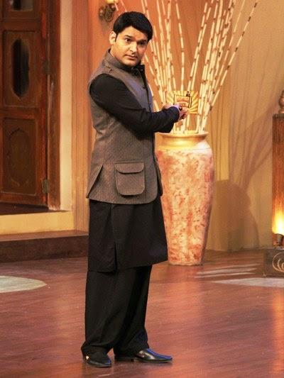 Comedian Kapil Sharma Hosts The Comedy Nights With Kapil Show During The Promotion Of Satyagraha Movie