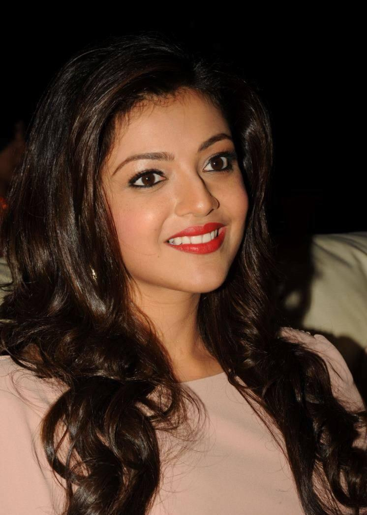 Kajal Aggarwal Gorgeous With Red Lippy At Tollywood Cinema Channel Launch Event