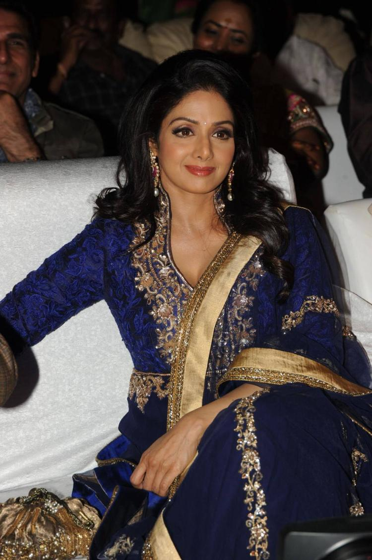 Sridevi Kapoor Gorgeous Look During The Tollywood Cinema Channel Launch Event