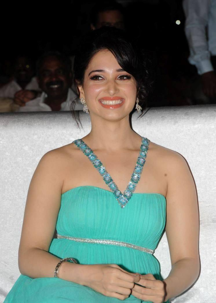 Tamannaah Bhatia Smiling Look At Tollywood Cinema Channel Launch Event
