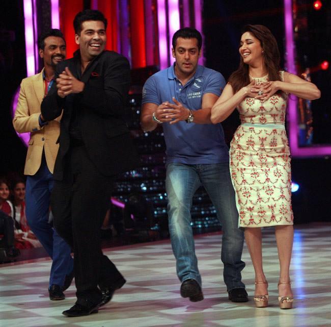 Remo,Karan,Salman And Madhuri Rocked On The Sets Of Jhalak Dikhhla Jaa 6