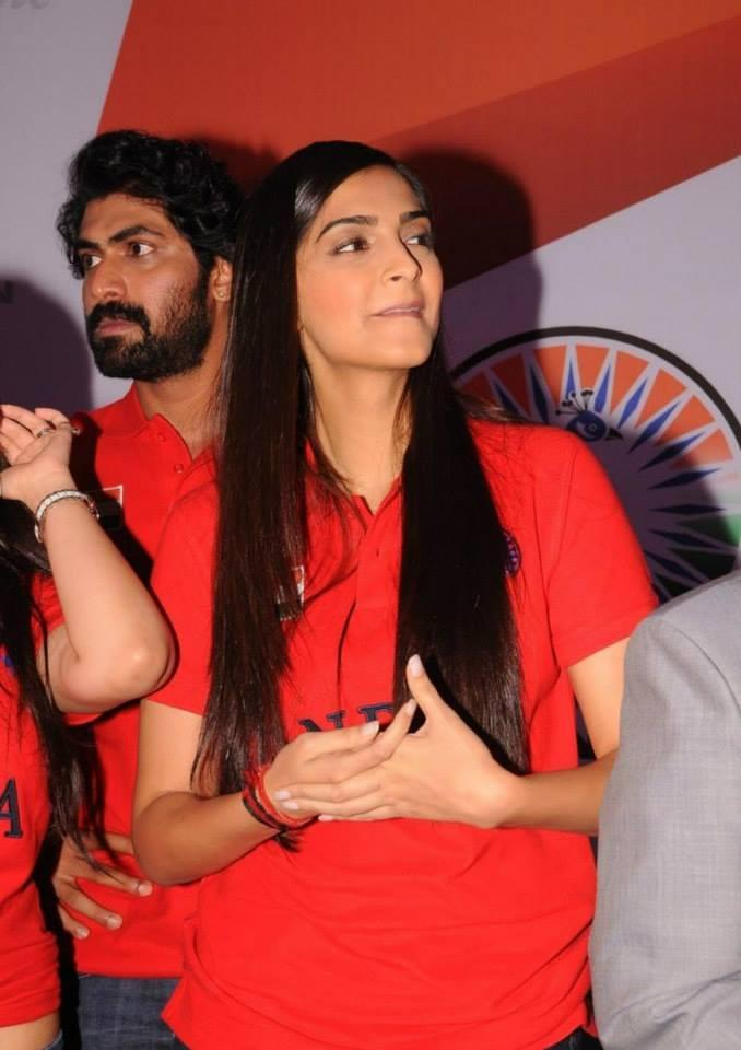 Sonam Kapoor Looks Dazzle In The Red Indian T-Shirts At The Indian Brand Launch Event