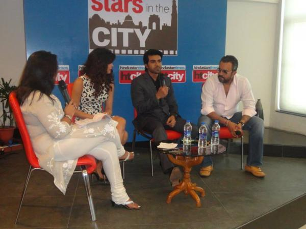 Priyanka And Ram Charan Address The Media During The Promotion Of Zanjeer At Hindustan Time's Stars In The City