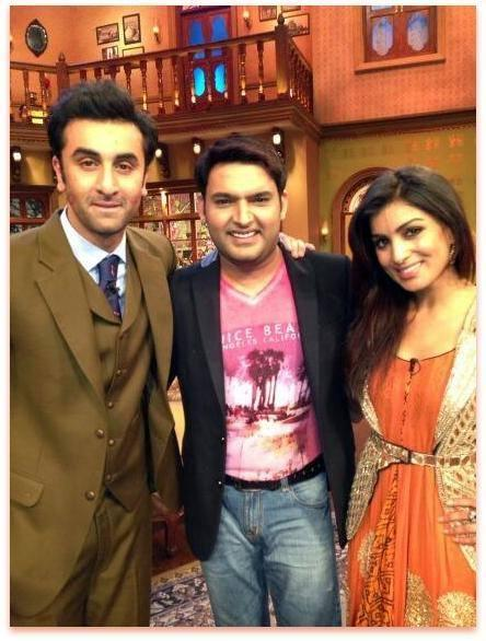 Ranbir,Kapil And Pallavi Clicked On The Sets Of Comedy Nights With Kapil During The Promotion Of Besharam