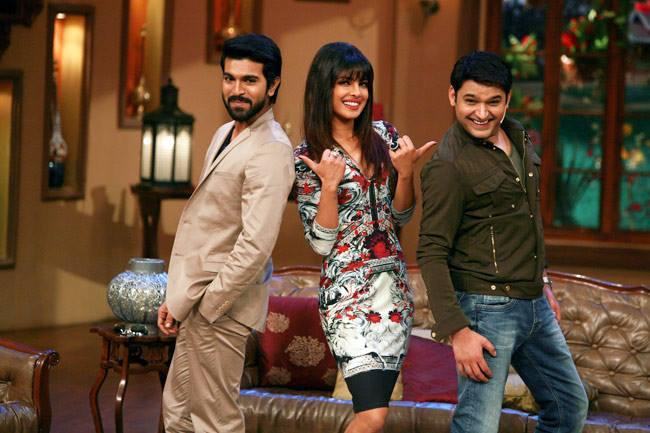 Ram Charan,Priyanka And Kapil Posed On The Sets Of Comedy Nights With Kapil