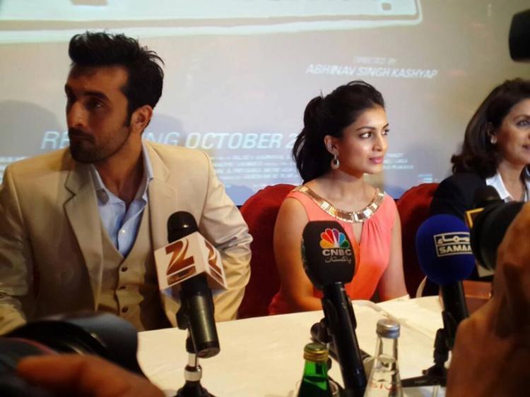Ranbir And Pallavi Promoting Their Upcoming Flick Besharam At Dubai