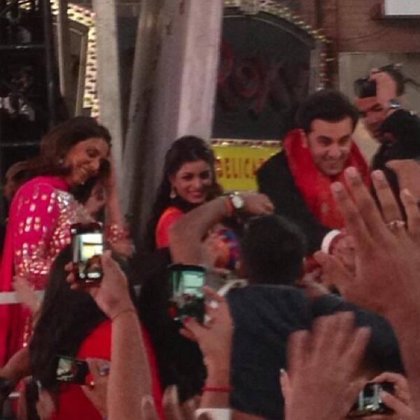 Ranbir And Pallavi Celebrate Diwali At Times Square In New York