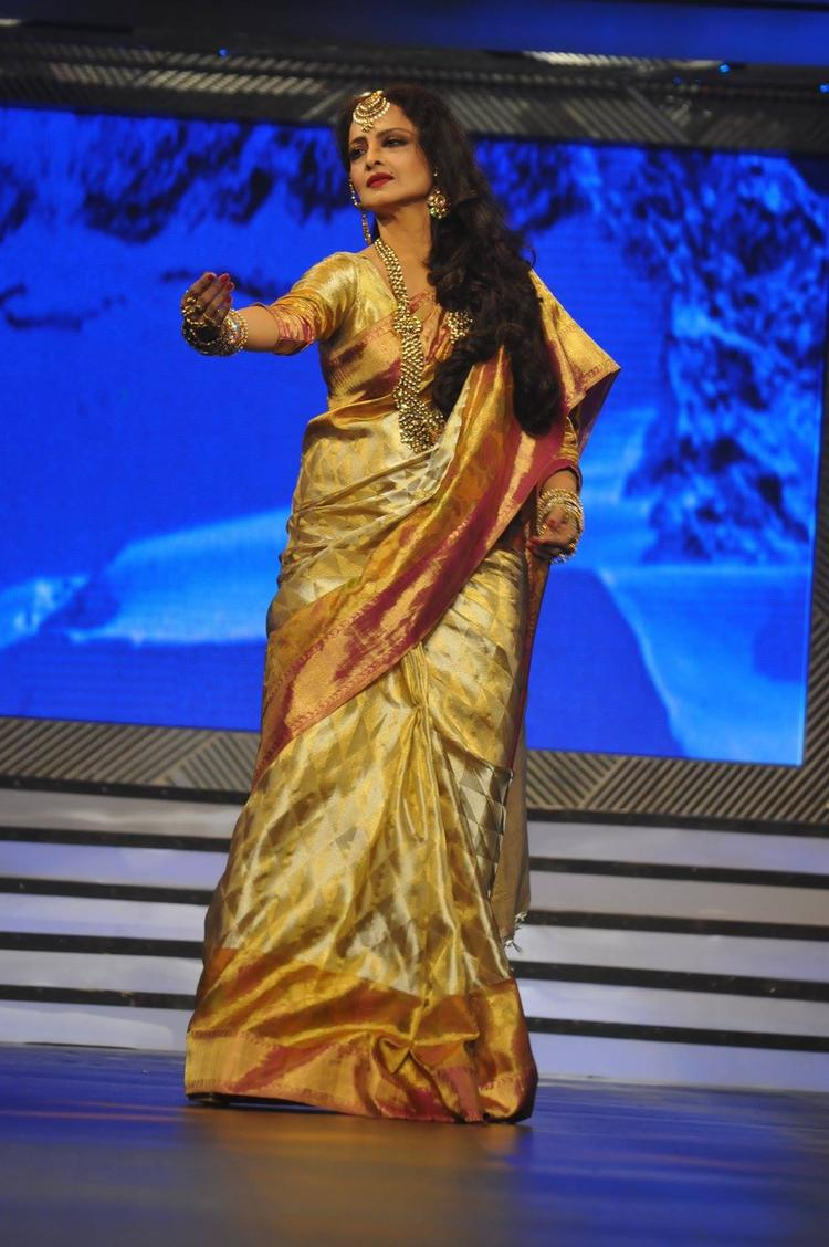 Rekha Wore Her Signature Sarees, Which Is Synonymous With Her Style At Yash Chopra's 81st Birth Anniversary Tribute Event