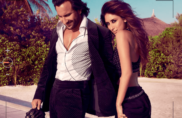 Saif And Kareena Cool Pose For Harper's Bazaar India October 2013 Issue