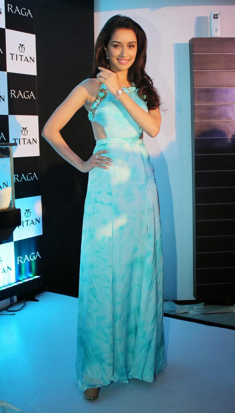 Shraddha Kapoor Shows The Watch At The Launch Of The Exquisite Raga Pearls Collection Of Watches