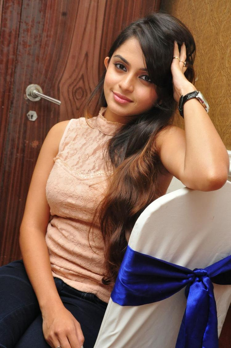 Sheena Shahabadi Dazzled During The Logo Launch Of Nuvve Naa Bangaram Movie