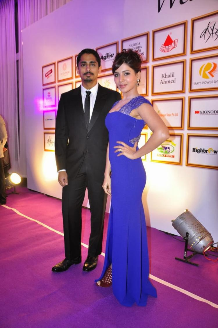 Samantha And Siddharth Hot Pose During Food For Change Charity Event