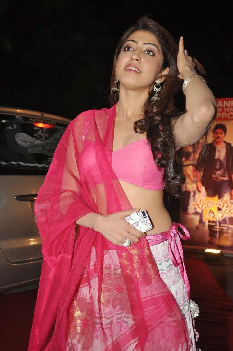 Pranitha Subhash Fashionable Hair Style At Attarintiki Daredi Movie Thank You Press Meet Function