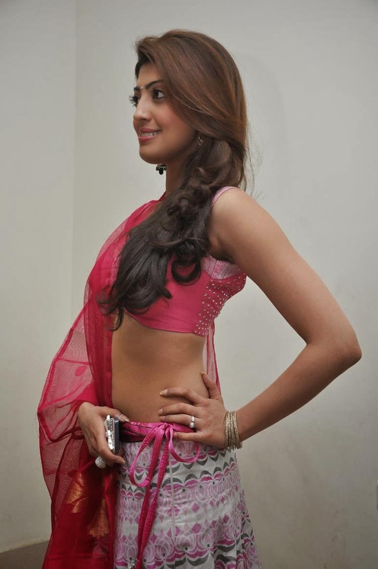 Pranitha Subhash Strikes A Pose At Attarintiki Daredi Movie Thank You Press Meet Function