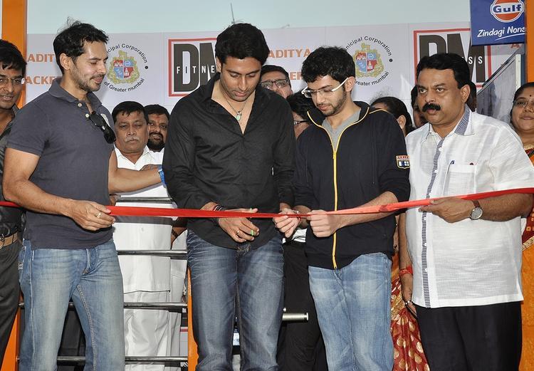 Dino Morea ,Abhishek And Aaditya Thackeray At Inauguration Of DM Fitness Centre