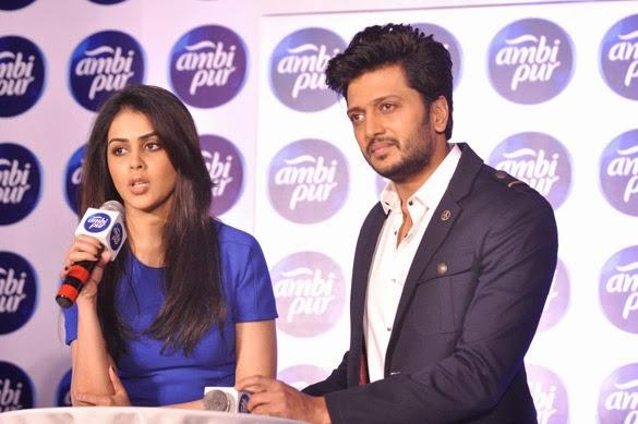 Riteish And Genelia During The Prsst Meet Of Ambi Pur's Refresh Your Love Campaign