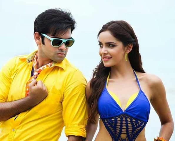 Shazahn And Ram Song Still From The Telugu Movie Masala