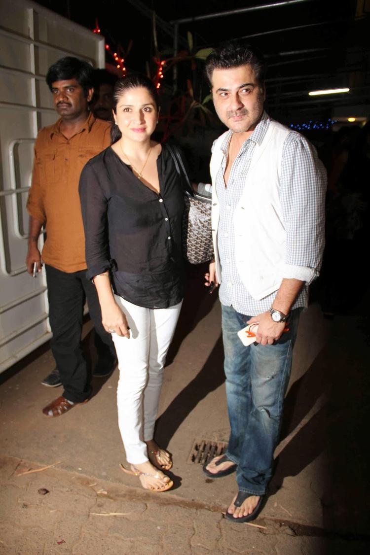 Sanjay And Mandeep At Light Box In Mumbai For Ram Leela Special Screening