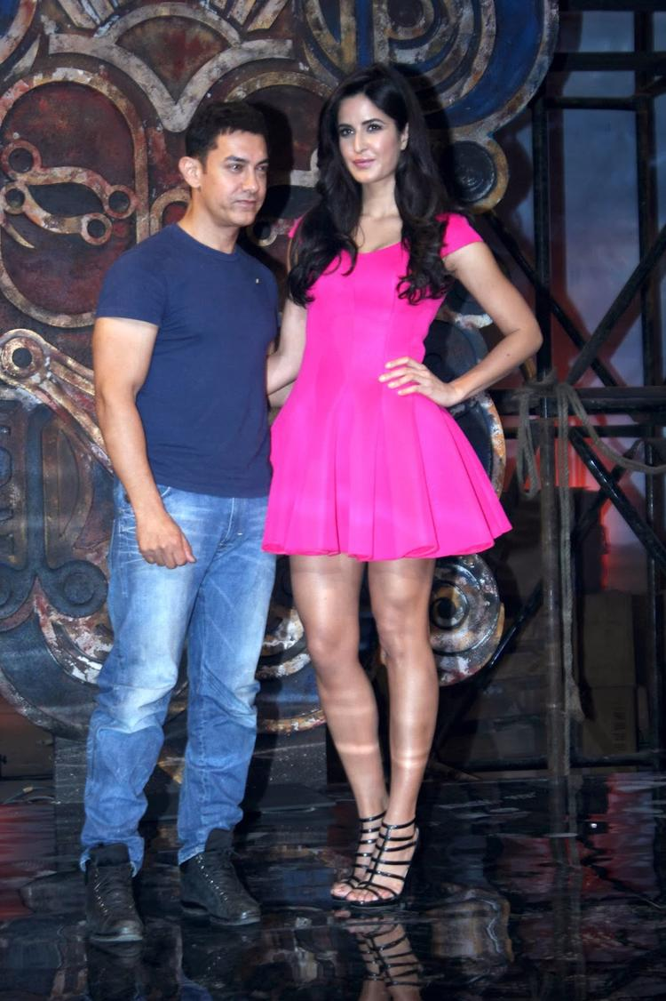 Katrina Kaif And Aamir Khan Snapped At Dhoom Machale Song Launch Event