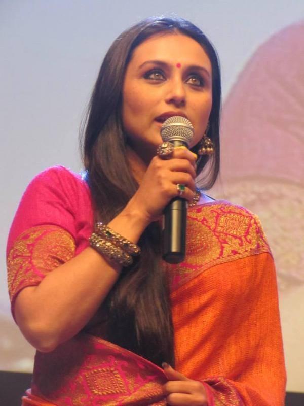 Rani Mukherjee Speaks During The Kolkata International Film Festival 2013