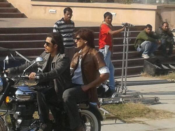 Ranveer Singh On Bike During The Sets Of Kill Dill
