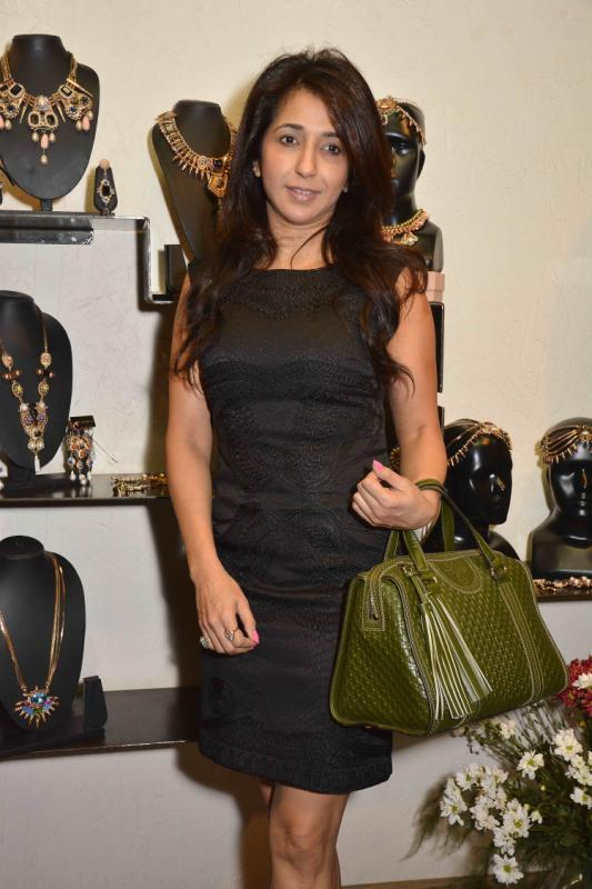 Designer Krishika Lulla In Black Dress Nice Look At Amit Agarwal Collection Preview Event