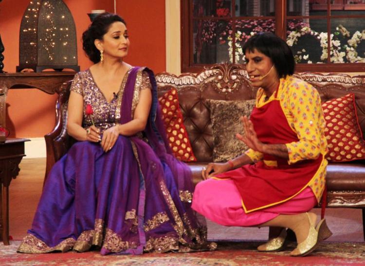 Raju Shrivastava Fun With Madhuri At Dedh Ishqiya Promotions At K9 With Kapil Show