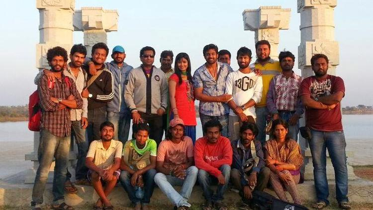 Radhika Pandit And Casts Clicked On The Sets Of Bahaddur Movie