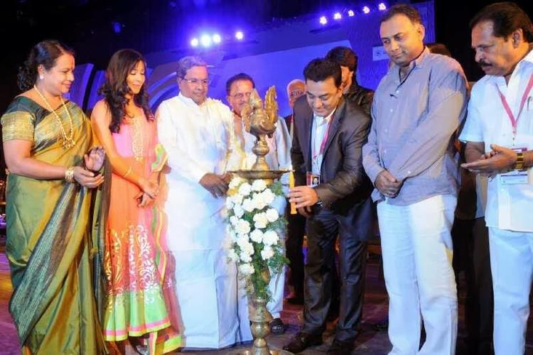 Kamal And Radhika At Bangalore International Film Festival Inaugural Function