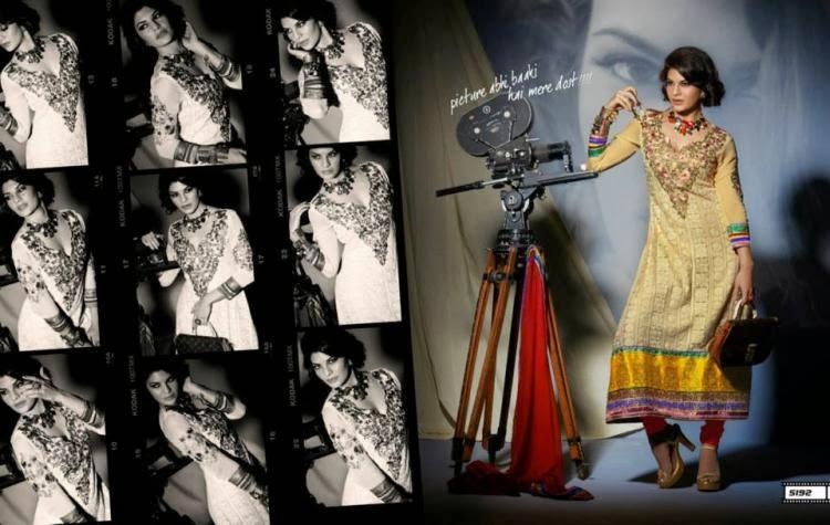 Beauti Queen Jacqueline Photo Shoot In Long Salwar Kameez