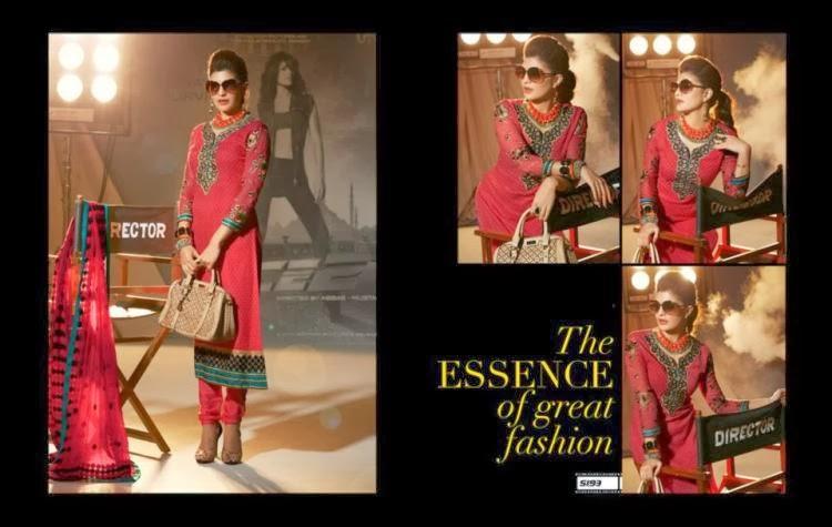 Jacqueline Fernandez Celebrity Salwar Kameez New Collection Photo Shoot